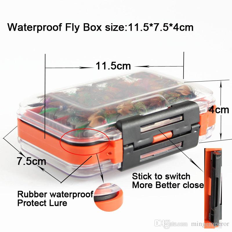fly fishing lure set Artificial bait trout fly fishing lures fishing hooks flyfishing tackle with fly box
