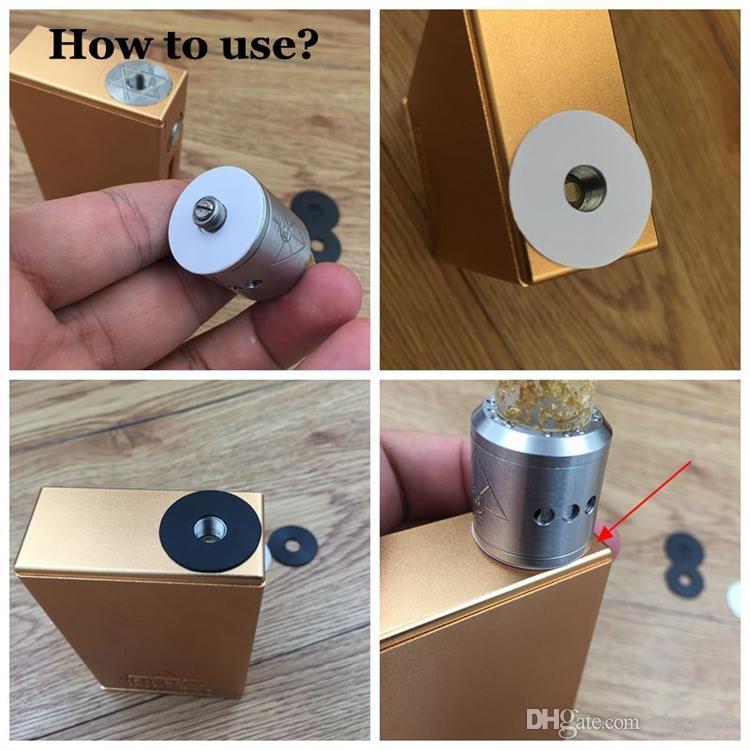 Adapter radiatora Podkładki chłodzące PC Sheets SheetSink adapter do 510 Doto Dołączony 22mm 24mm złącze do zbiornika Vape RDA