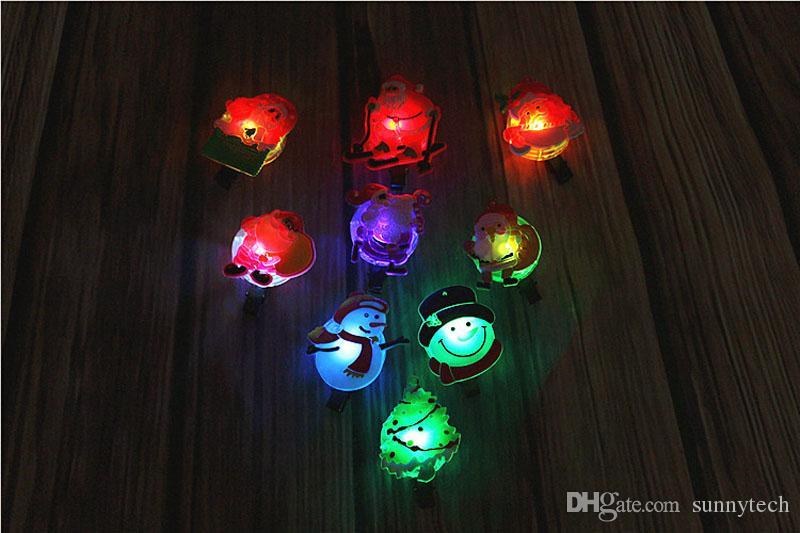 Nette Blinklicht LED Weihnachtsmann Schneemann Design Haarspange Haarnadel Für Kinder Mädchen Glow Party Weihnachtsdekor ZA5292