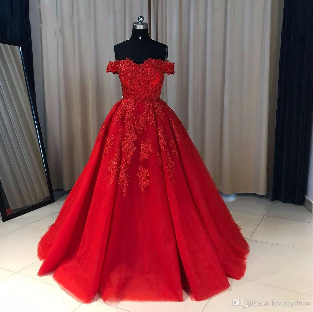 Vintage Off the shoulder Red Teal Cheap Ball Gown Prom Dress Lace Tulle Long Corset Back Pleated Dresses Evening Party Formal Gown