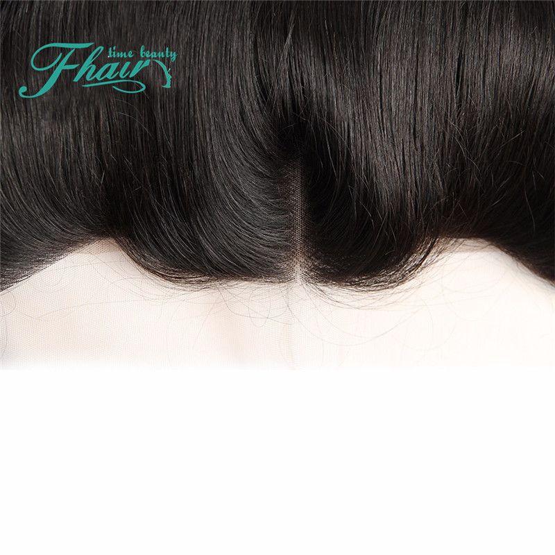 9A chiusura frontale pizzo europeo con fasci tessuto non trasformati capelli umani al 100% con 13X4 frontale in pizzo 8