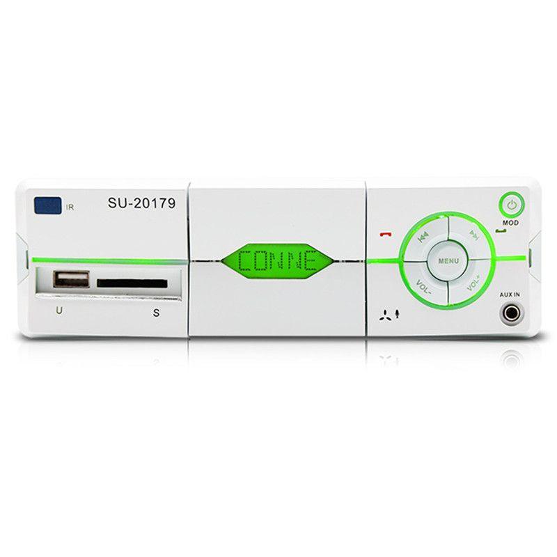 Bluetooth Car Stereo Audio Receiver MP3 Player Remote Control U Disk Card Radio with Mobile Phone Bracket Design /AUX Audio Input/AM/FM/File