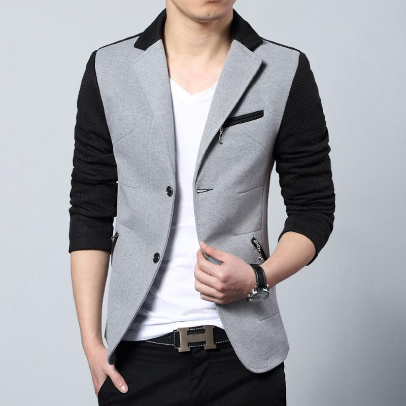 d0dae1db8ca 2019 New Arrival 2017 Fashion Casual Cotton Slim Fit Korean Suit Blaser  Masculino Male Jacket Men Blazer Designs Gray Size M 3XL From Blueberry11