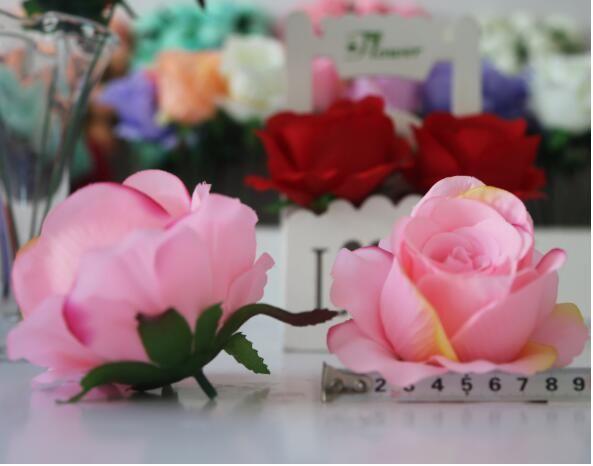 100 stücke 11 cm Elfenbein Künstliche Blumen Seide Rose Kopf Diy Decor Reben Blume Wand Hochzeit Dekoration Gold Künstliche Blumen Für Decor