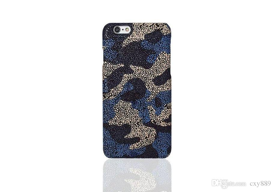 Fashion cool colorful blue stone For Apple iphone 6 6s plus camouflage hard plastic cover case