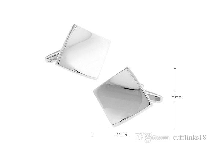 2016 NUOVO ARRIVO Uomini Eleganti Gemelli Lucido Semplice Contorted Quadrato Modello di Piastrella Vistosa Geometria Polsino Cuff-link 930057