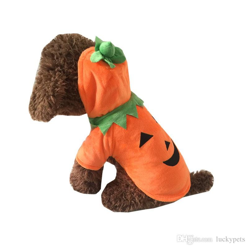 Halloween Pumpkin Pets Dog Clothes Puppy T-shirt Apparel Dress Hoodie Costume Pet Supplies Size XS-XL 160918