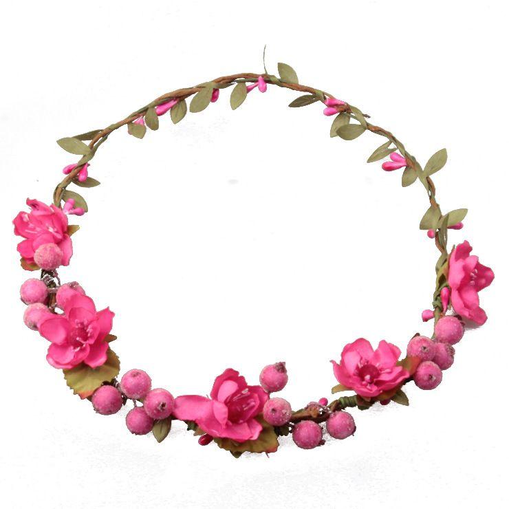 Ratán Bayas Artificiales Diadema de Flores Diadema Hairband Cabeza Guirnalda DIY Floral Nupcial Garland Crown Halo Boda Accesorios para el Cabello