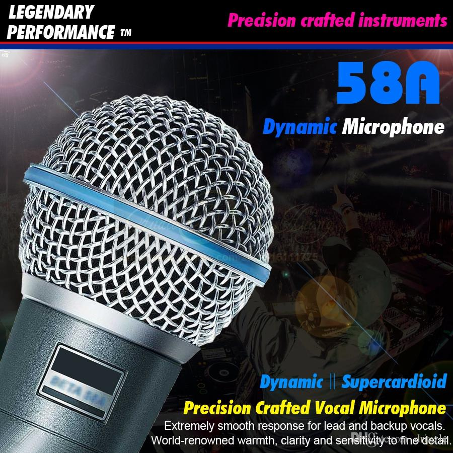 Karaoke Microphone Beta58a Super Cardioid Dynamic Vocal Wired Jack Wiring Mike Moving Coil Mic Stage Singing Microfone