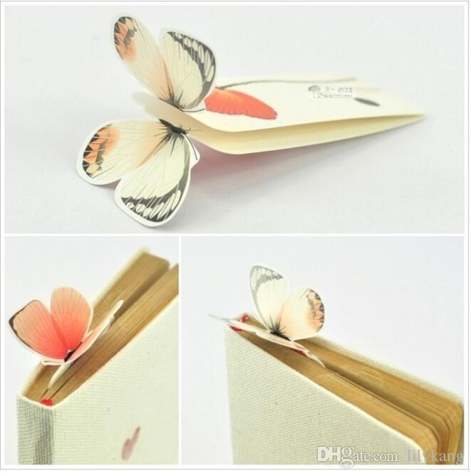 Marcador de Borboleta 3D Para O Belo Presente de Natal de Aniversário Livro Marca de Escritório Material Escolar Suprimentos de papelaria bookmarks requintado