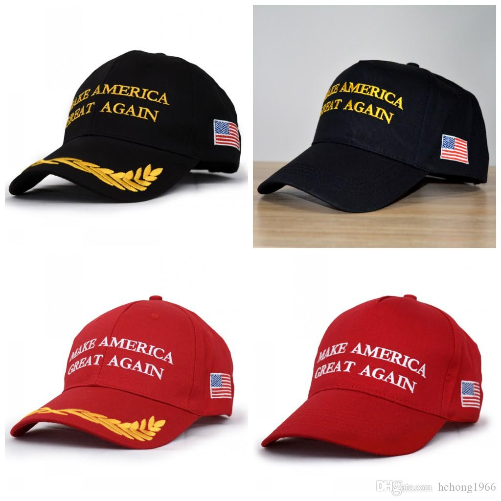 Embroidery Baseball Hat Flat Eaves Make America Great Again Peaked Cap Dome English Letter Hats For Four Seasons B R