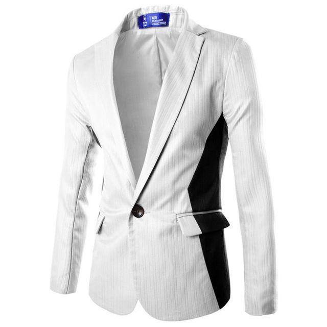 2017 Brand White Blazer Men 2016 Spring Autumn Fashion Single ...