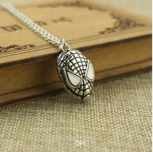 New Arrive Superhero Spider-man The Amazing Spiderman Mask Pendant Necklace Fashion Necklace for Men Wholesale and Retail