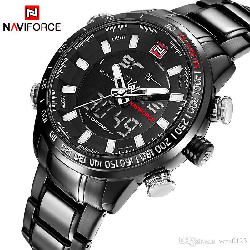 f7592513b283 NAVIFORCE Luxury Brand Men Military Sport Watches Men s Digital ...