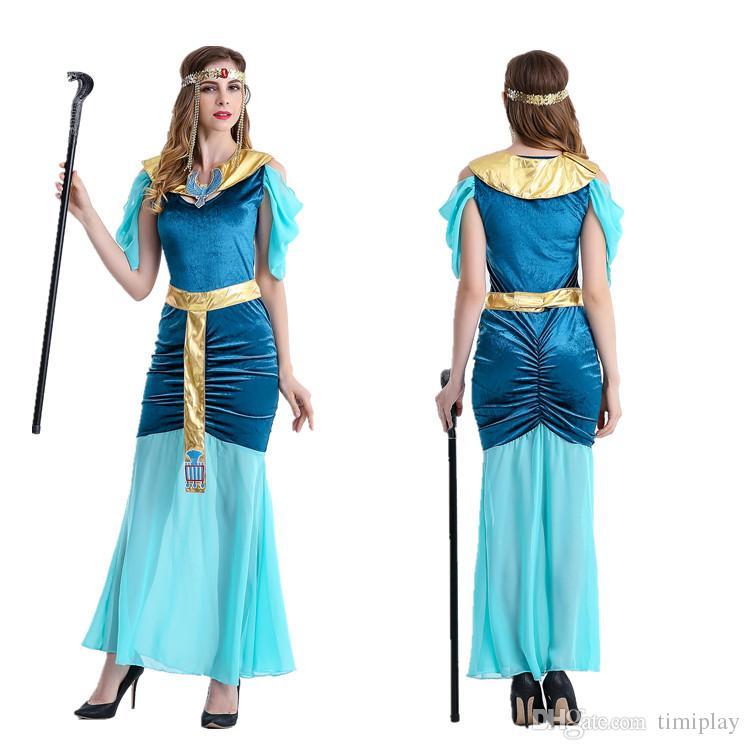 halloween cleopatra greek goddess serve arab girl princess dress green cultivate oneu0027s morality dress group halloween costumes for kids halloween