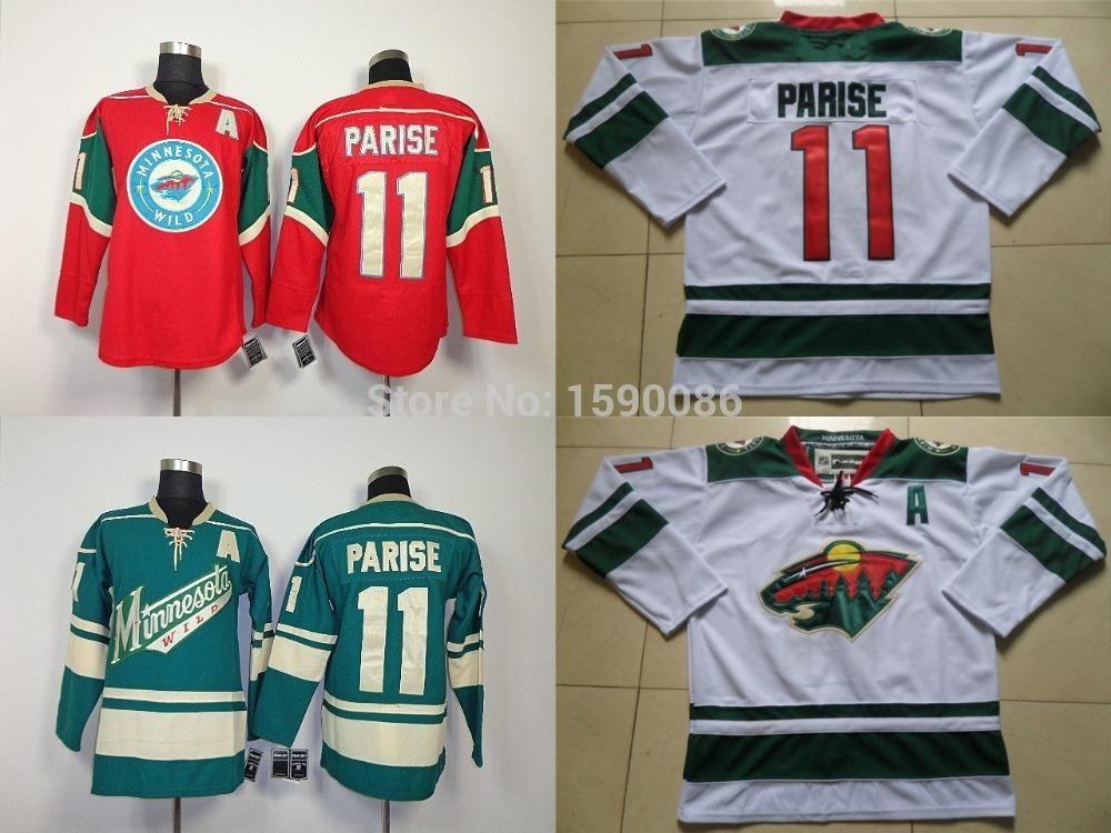 2019 Authentic Cheap Minnesota Wild Jerseys  11 Zach Parise Jersey Red  White Green Wholesale Ice Hockey Jerseys China From Cn Sell c07f1eeba