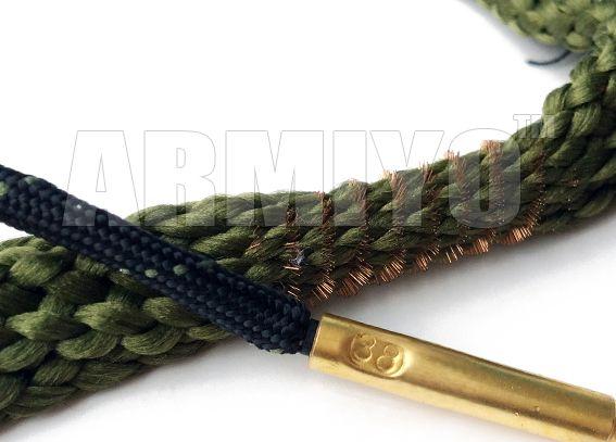 Armiyo 0,380 9 mm .38 .357 Cal Hand Gun Bore Brosse serpent Cleaner corde pistolet Barrel nettoyage Sling Kit 24002 Accessoires de chasse