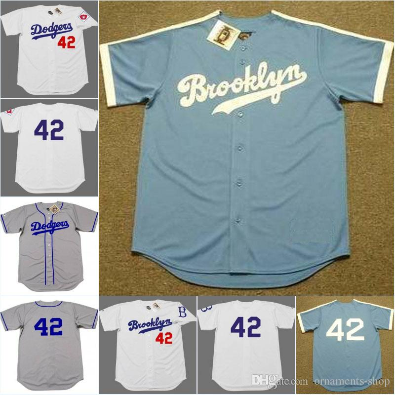 2019  42 Jackie Robinson Jersey Brooklyn Dodgers 1951 1955 Cooperstown  Throwback Away Stitched Embroidery Logos Baseball Jerseys From Ornaments  Shop 43b7916916a