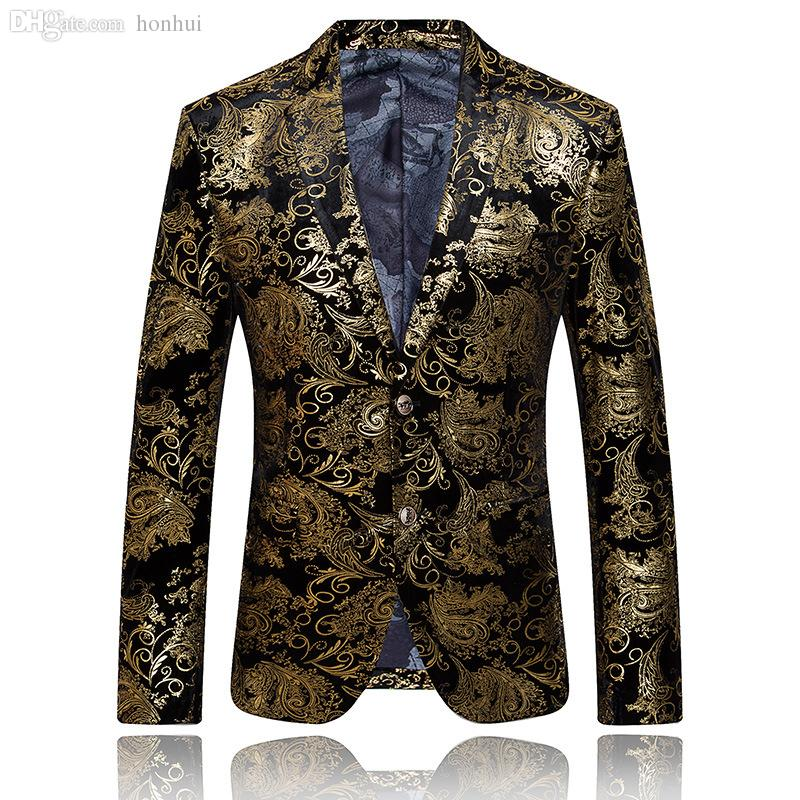2019 Wholesale Gold Blazer For Men Luxury Brand Floral Blazer Formal Jacket  Mens Embroidered Blazer Vintage Suit Prom Blazers Casual Coat Q51 From  Honhui, ... 1f196e65ea