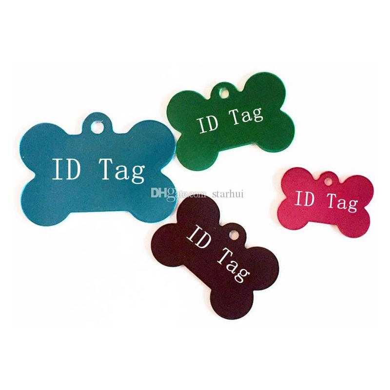 Dog Tag Metal Blank Military Pet Dog ID Card Tags Aluminum Alloy Army Dog Tags No Chain Mixed colors WX-G12