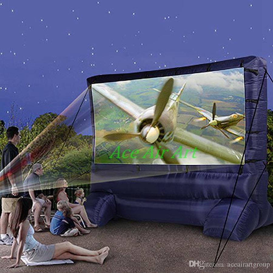 schermo di proiezione schermo cinematografico gonfiabile, schermo gonfiabile del proiettore posteriore, schermo portatile di film gonfiabile