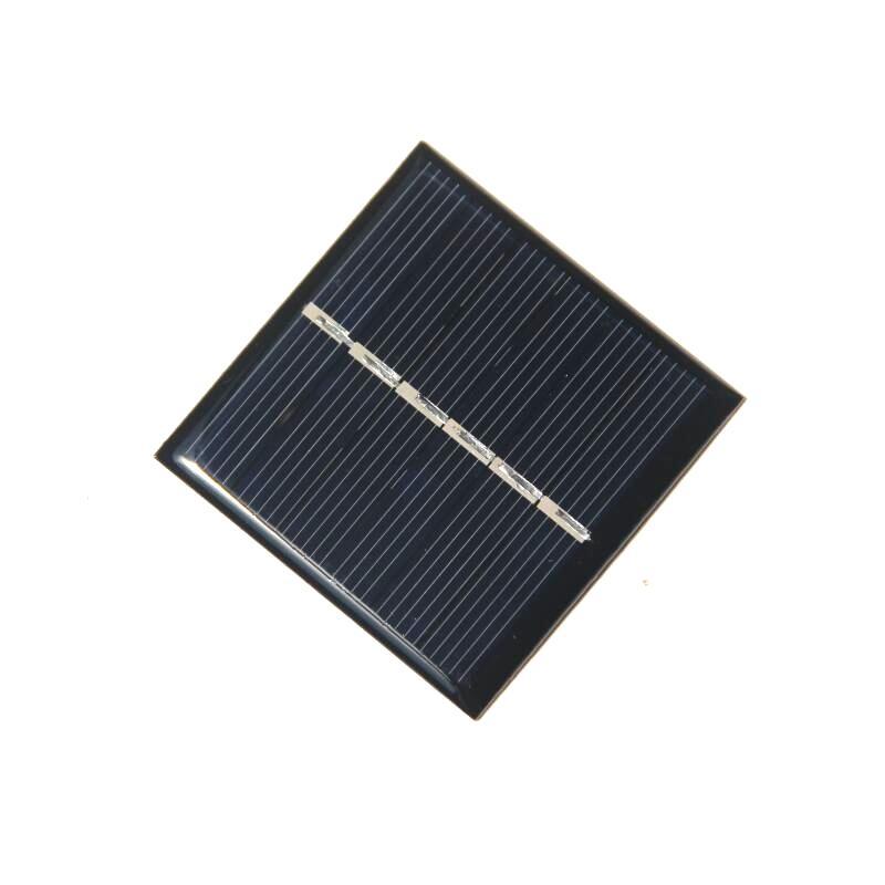 BUHESHUI 0.42W 3V Solar Panel Solar Cell Polycrystalline DIY Solar Charger System Led Light Toy Education 54*54MM Epoxy Epoxy