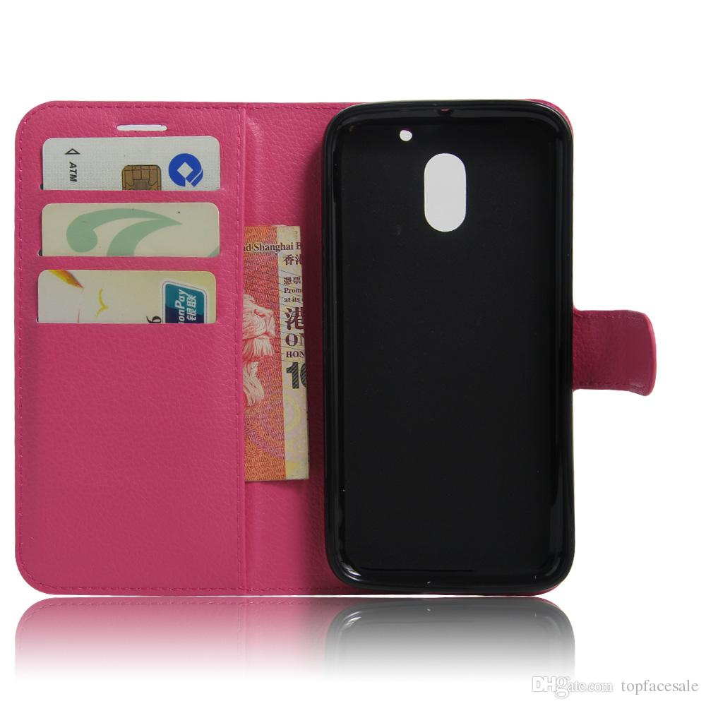 Diforate New Arrival Luxury Leather Wallet Phone Flip Cover Pouch Case For Motorola Moto E3/Moto E3rd Gen.