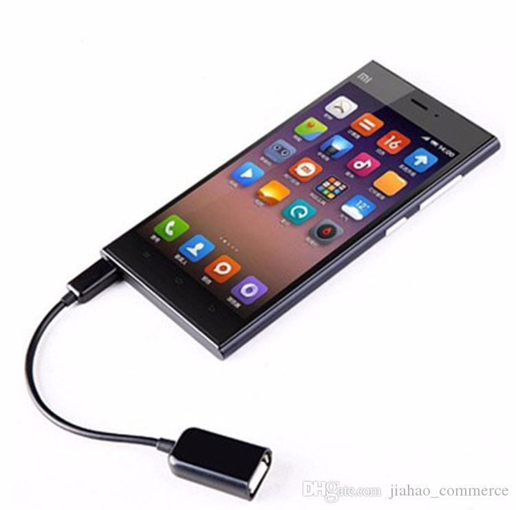 micro usb à femelle adaptateur de câble OTG USB pour téléphone intelligent, téléphone mobile, téléphone Android
