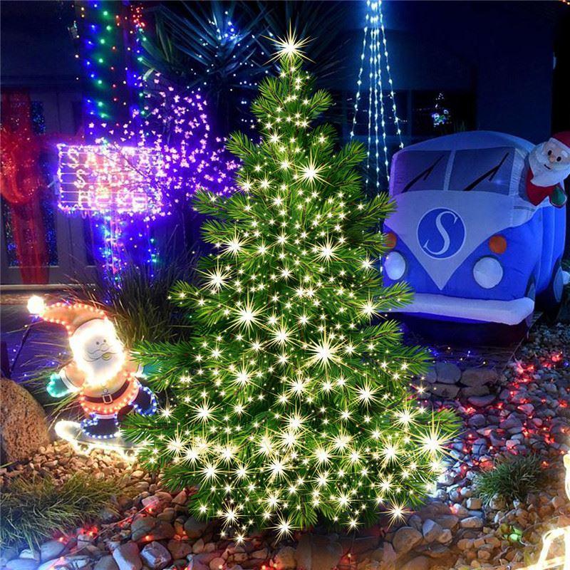 novelty solar led light string led fairy string light full sky of stars led lamps for garden festival christmas tree lights first birthday party supplies