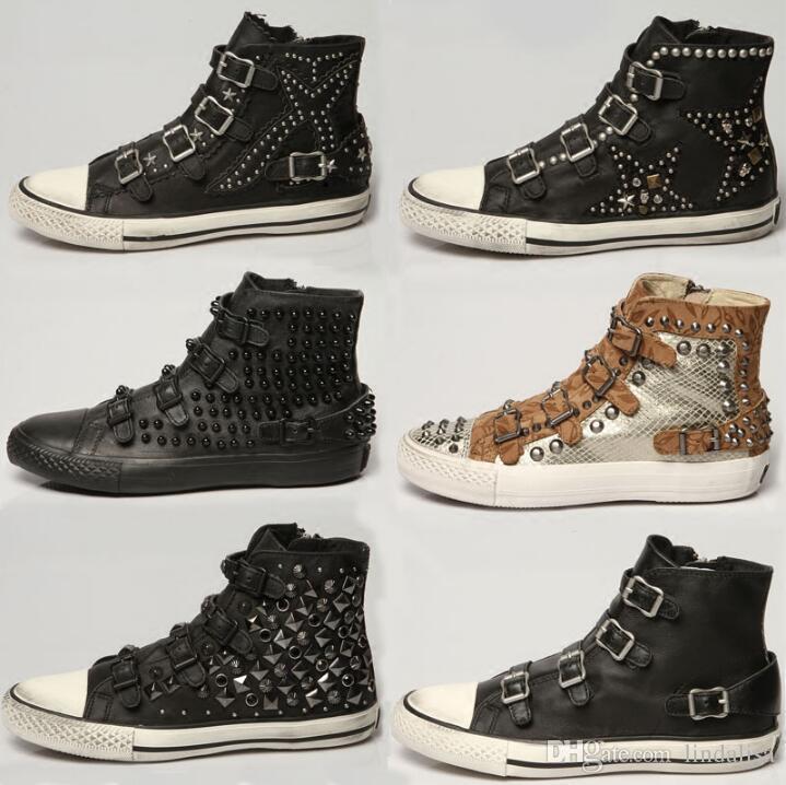 Großhandel Ash Sneakers Mit Bolzen Trimmen Flache Ferse Ash Casual ...