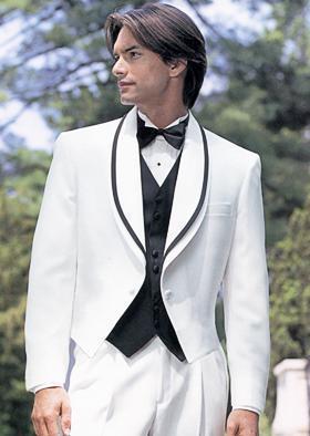 Nueva llegada --- Nuevo diseño de calidad superior mantón Colar Novio smoking Padrino de boda / Vestido de novia para hombre Chaqueta + pantalones + corbata + Chaleco A045
