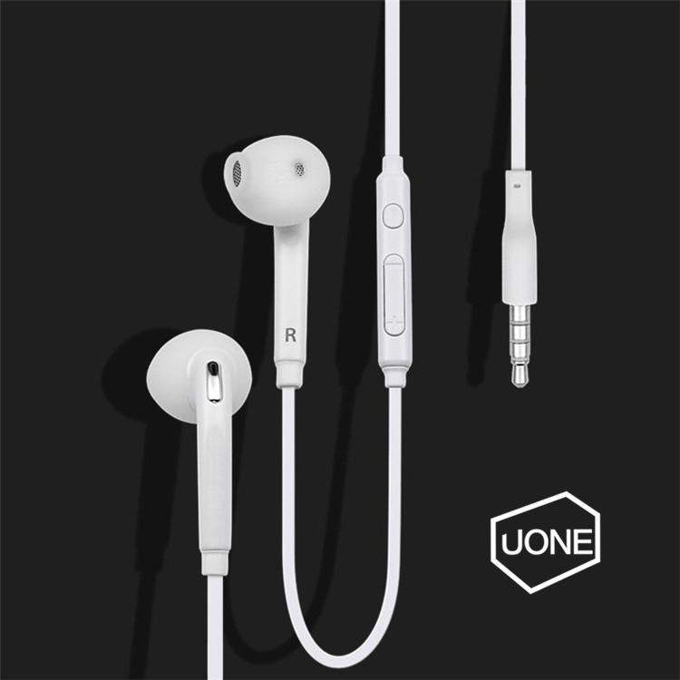 S6 S7 auricolare auricolari J5 cuffie auricolari Auricolare Jack In Ear cablati con volume del Mic di controllo bianco di 3.5mm Con RetailBox