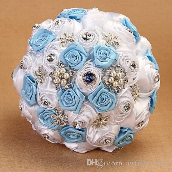 Artificial Flowers Light Blue Real Looking Artificial Roses W/Stem ...