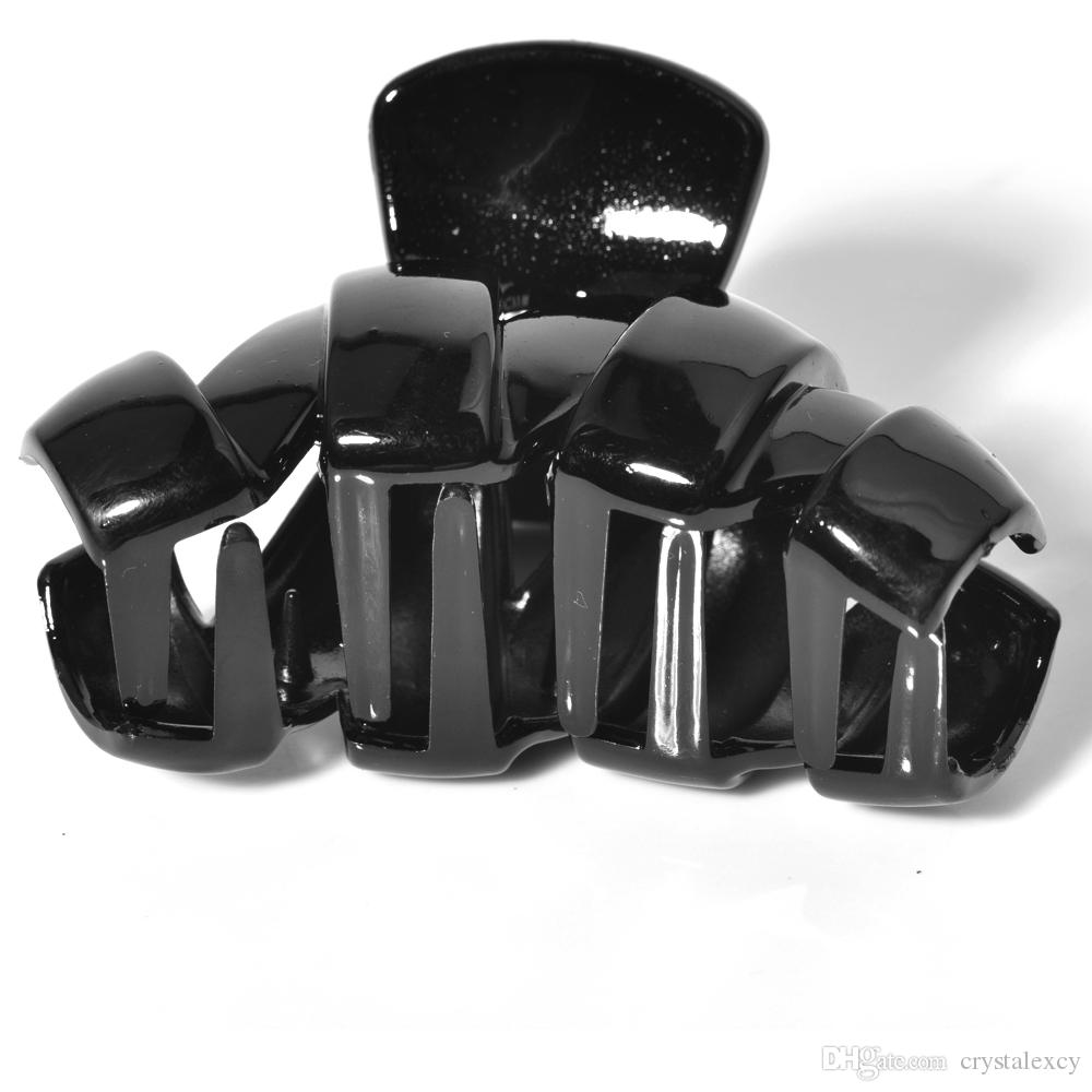pretty Hair Clip black Plastic Hairdressing Clamp Hair Pin wholesale lady women accessory