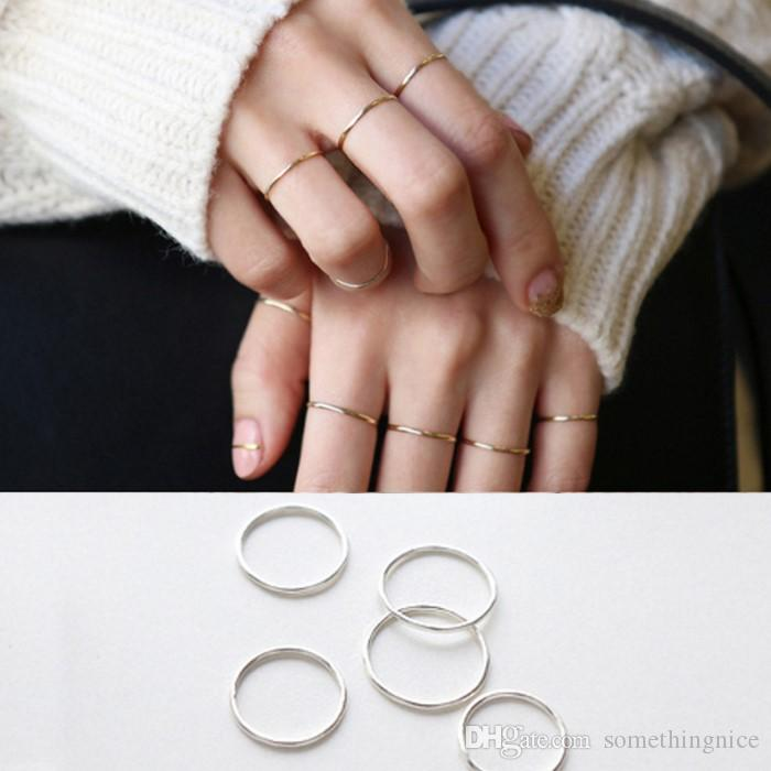 2018 New Sterling Silver S925 Band Rings For Women Simple Style Rose Gold  Fashion Jewelry Women Ring Fashion Accessories Wholesale NICE Diamond  Wedding ... 21a08b8ce