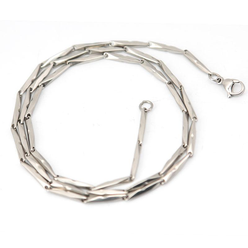 new arrive 2mm 22'' Silver 316 Stainless Steel long diamond Necklace Chain for WOMEN