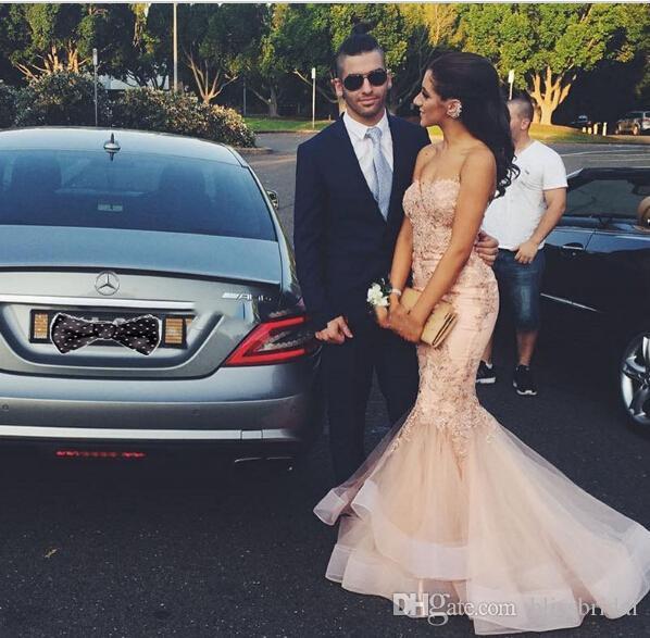 Abiti da sposa Sweetheart 2017 3D-Appliques floreali abiti da sposa in raso con ricamo da terra lunghezza tulle sirena abiti da sposa