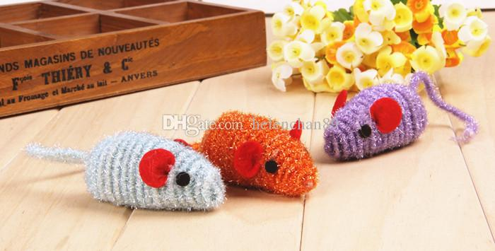 Pet Cat Spring Rope Toy Mouse Cat Cute Animal Shape Toys For Small Medium Large Pets Drop Shipping Raondom Color Delivery /