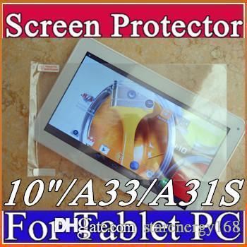 "Original Screen Protective Film Protector Guard for 10"" 10 inch Allwinner A23 A33 A31S A83T ATM7021 ATM7029 A64 Android Tablet PC H-PG"