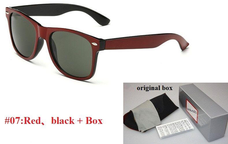 Alta calidad Marco Plank Gafas de sol Negro Verde Lentes Gafas de sol de metal bisagra gafas de sol gafas de sol de los hombres de las mujeres unisex de los vidrios Gafas de sol