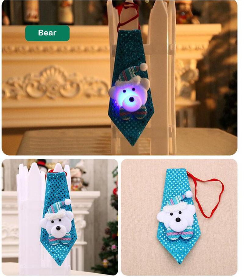 Bambini Di Natale Cravatta Con La Luce Del Pendente Di Goccia Ornamenti Babbo Natale Pupazzo Di Neve Albero Di Natale Buon Natale Decorazione