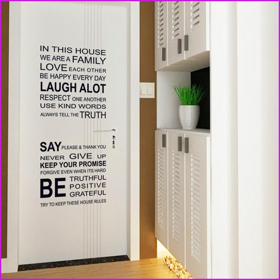 English Proverbs Wall Sticker Family House Rules Wall Stickers - House rules wall decals