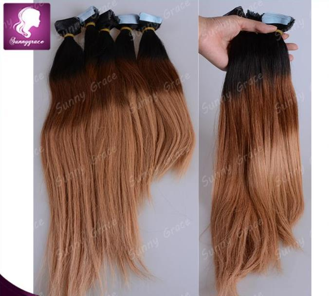 16 26 Pack Tape Hair Extensions Human Indian Remy Adhesive Glue In