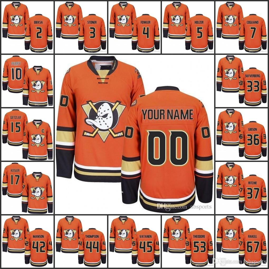 7b181296158 ... cheapest anaheim ducks mens custom orange alternate jersey perry  getzlaf kesler fowler ritchie silfverberg gibson holzer