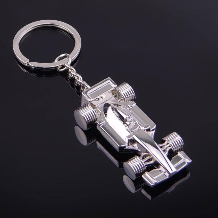 3d f1 racing car keychain zinc alloy cool keyring key ring keyfob