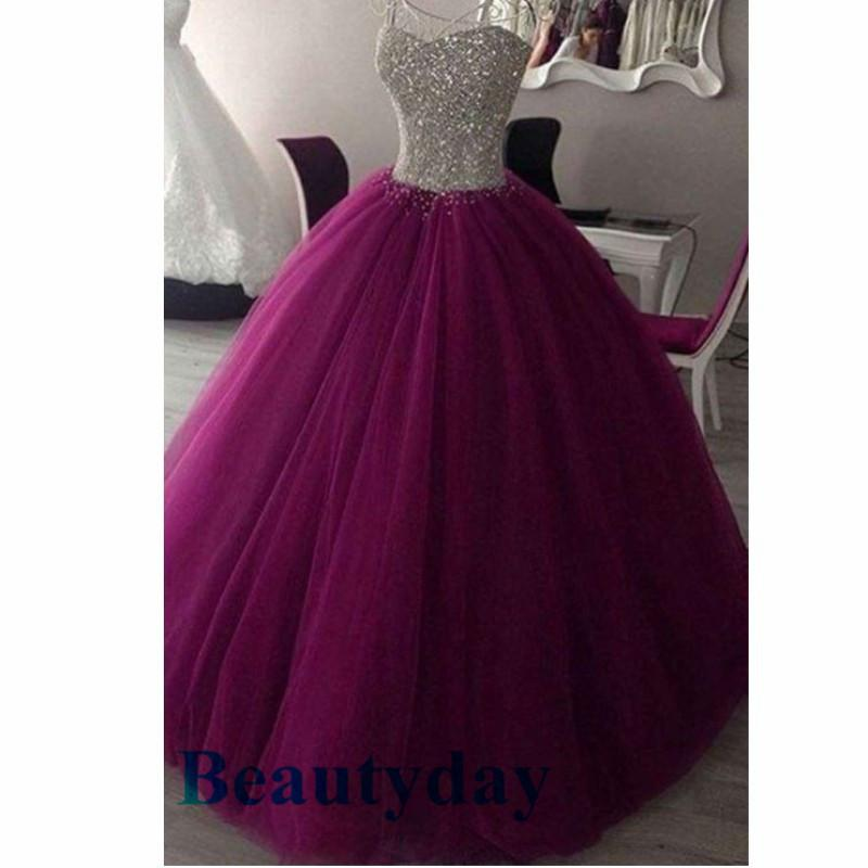 b3c93bbd52e Purple Quinceanera Dresses 2019 Modest Real Image Sweet 16 Prom ...