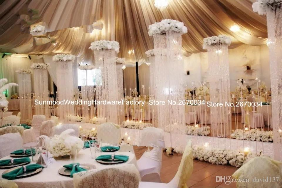 Acrylic Crystal Curtain For Wedding Stage Round Mandap