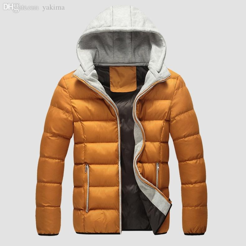 a64c2ad310f4 2019 Fall 2015 Fashion Solid Cotton Jacket Parka With Hood Warm Winter Coat  Mens Jackets Coats Chaqueta Hombre 13M0347 From Yakima