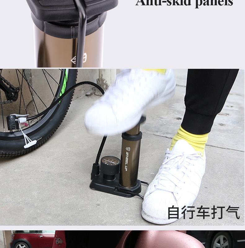 발 페달 팽창기 산악 자전거 자전거 전기 자동차 페달 기압계 운반하기 쉬운 인플레이터 미니 시간 및 노력 물질 조명 절약