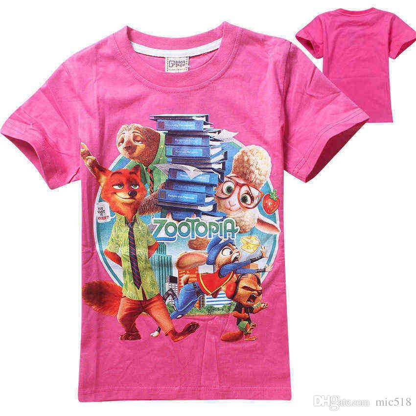 2017 Boy Girl T Shirts Kids Baby Zootopia T Shirt Children ...
